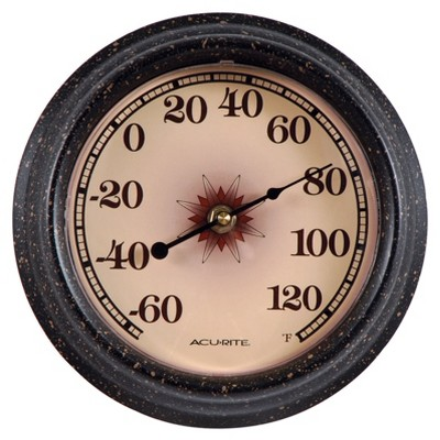 8.5  Outdoor / Indoor Thermometer - Desert Star Design with Weathered Finish - Acurite