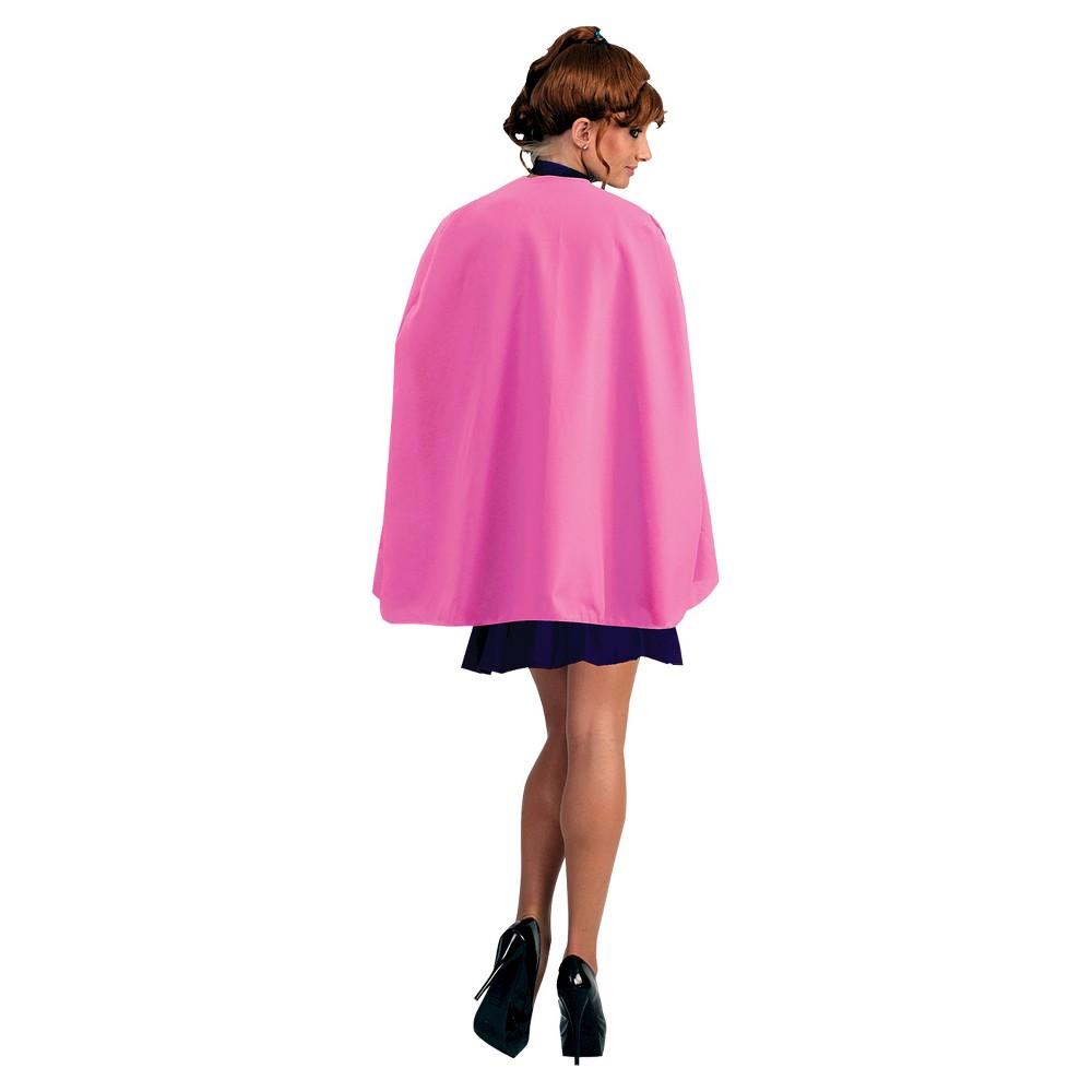 Superhero Cape Adult Pink 36, Women's