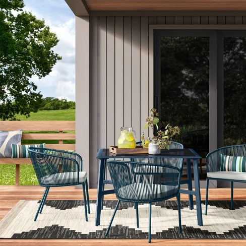 Fisher 5pc Patio Dining Set - Blue - Project 62™ - image 1 of 8