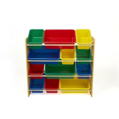 Mind Reader Rainbow Toy Storage Organizer with 12 Storage Bins