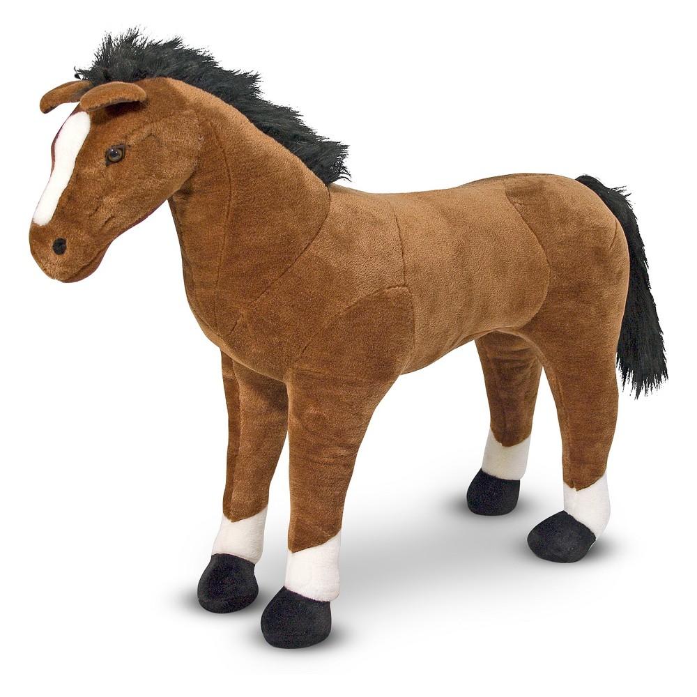 Melissa 38 Doug Giant Horse Lifelike Stuffed Animal Nearly 3 Feet Tall