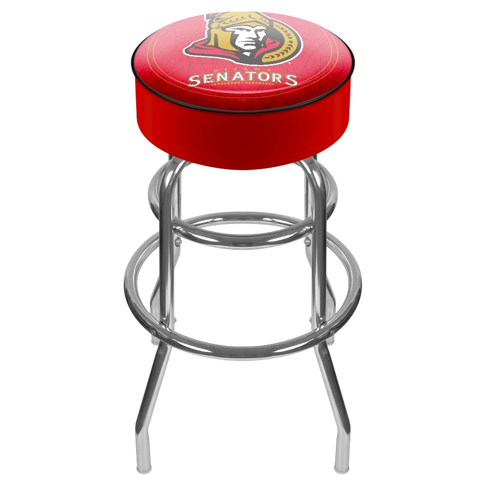 Ottawa Senators Padded Bar Stool with Back
