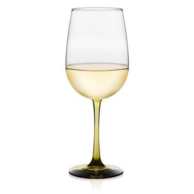 Libbey Vina Olive Stemmed Wine Glasses 18.5oz - Set of 6