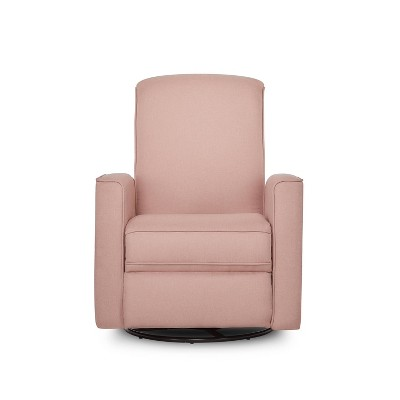 Evolur Seattle Upholstered Swivel Glide Recliner - Pink