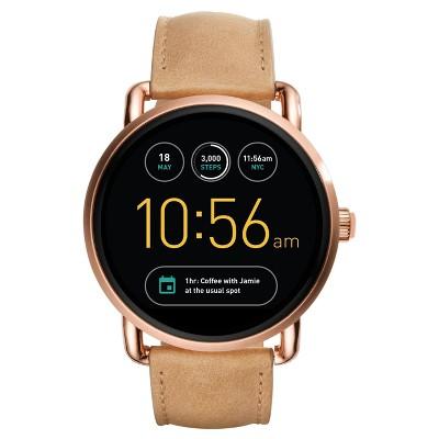 Fossil Gen 2 Smartwatch - Wander 45mm Light Brown Leather
