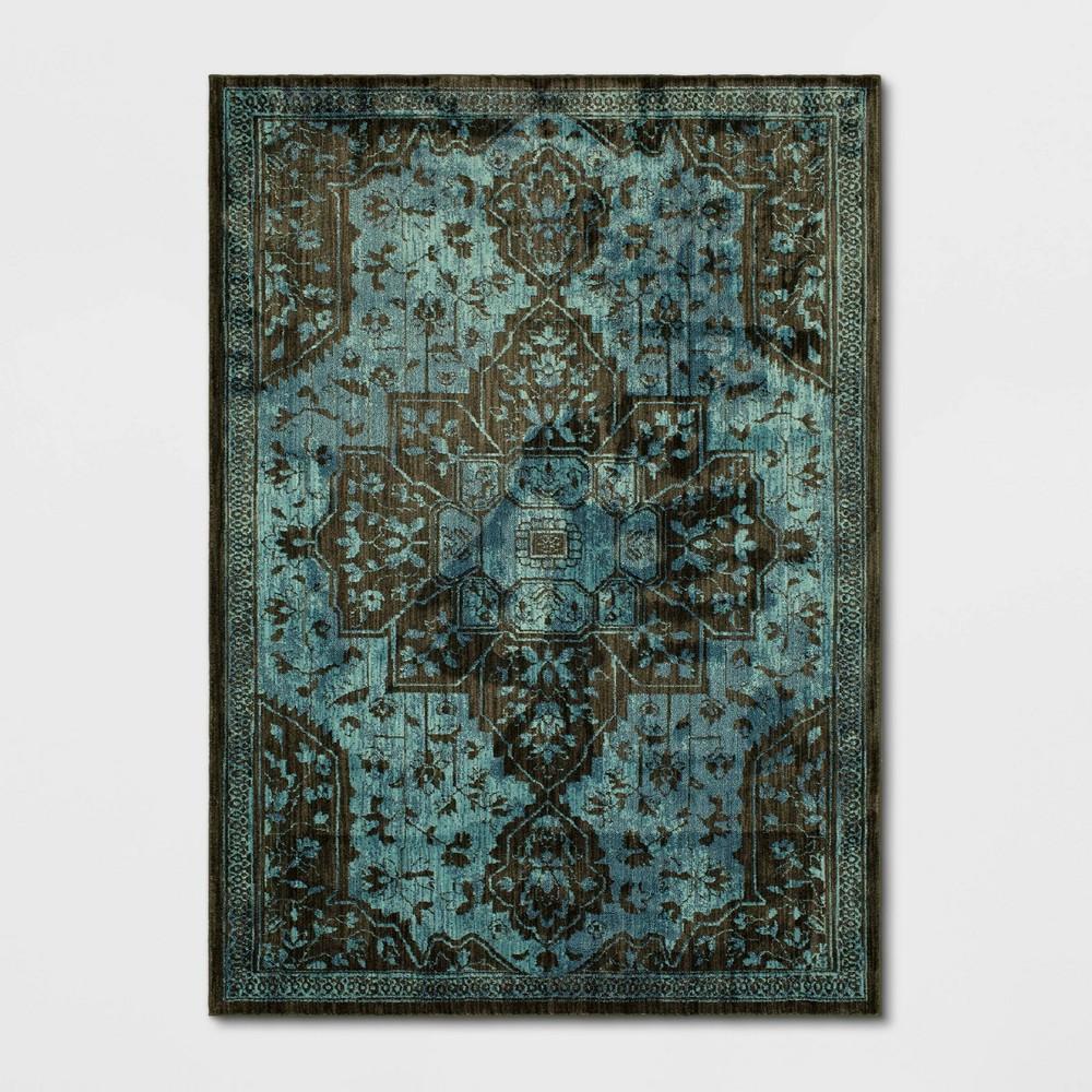 Elaenia Vintage Persian Woven Rug Navy
