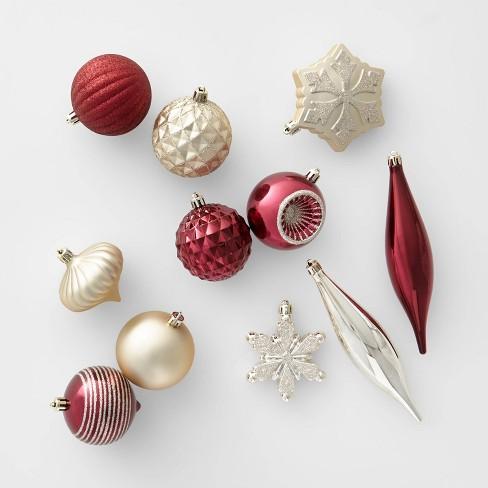 Christmas Ornament Set.40ct Christmas Ornament Set Champagne And Wine Wondershop