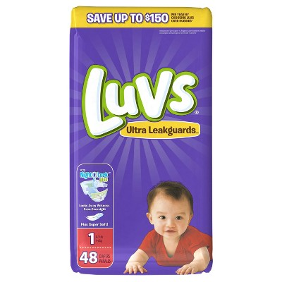 Luvs Disposable Diapers Jumbo Pack - Size 1 (48ct)