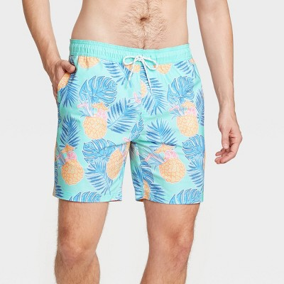 "Men's 7"" Pineapple Swim Trunks - Goodfellow & Co™ Aqua"
