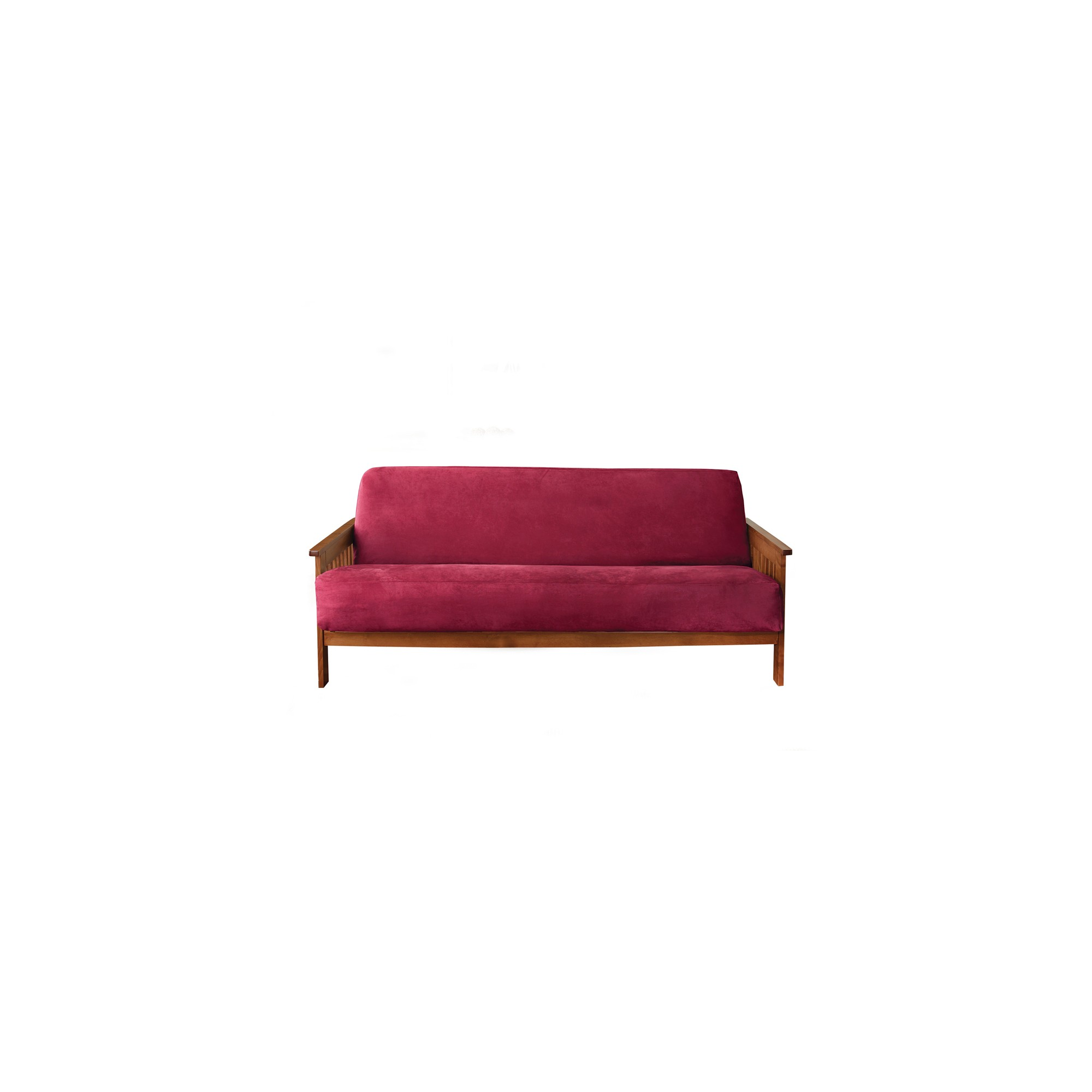 Soft Suede Futon Cover Burgundy - Sure Fit, Red
