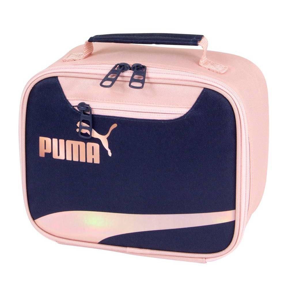 Image of Puma Formstripe Lunch Bag - Peach/Navy