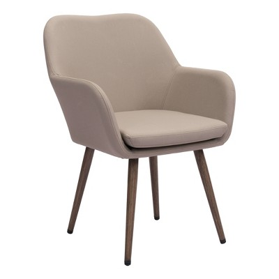 Mid-Century Modern Outdoor Dining Chair Taupe - ZM Home