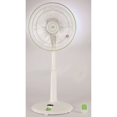 "Sunpentown 14"" DC Motor Energy Saving Stand Fan White"