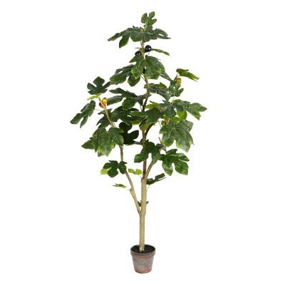 Vickerman Artificial Potted Fig Tree.