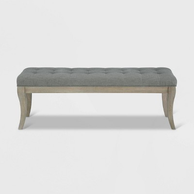Adina Rectangular Tufted Bench Taupe - Dorel Living