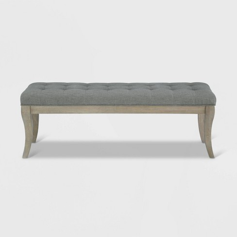 Adina Rectangular Tufted Bench Taupe - Dorel Living - image 1 of 9