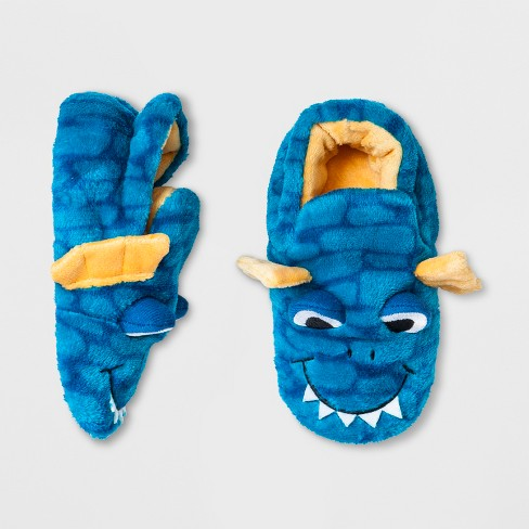 1cc75ebee1b Toddler Boys  Dragon Bootie Slipper - Cat   Jack™ Blue   Target