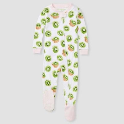 Burt's Bees Baby Girls' Kiwi Footed Pajamas - Pink