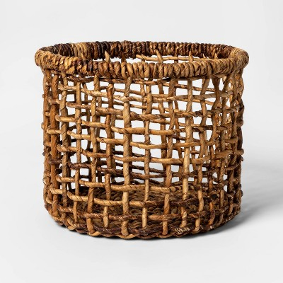 Banana Bark Round Open Weave Basket Natural - Opalhouse™