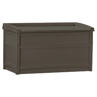 Resin Premium Deck Box With Seat 50 Gallon - Brown - Suncast
