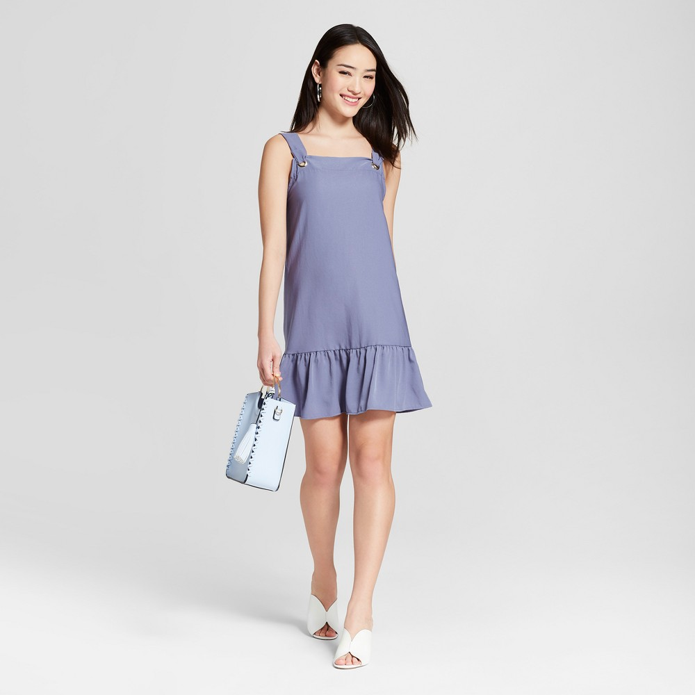 Women's Ruffle Shift Dress - Le Kate (Juniors') Blue S, Size: Small was $34.99 now $13.99 (60.0% off)