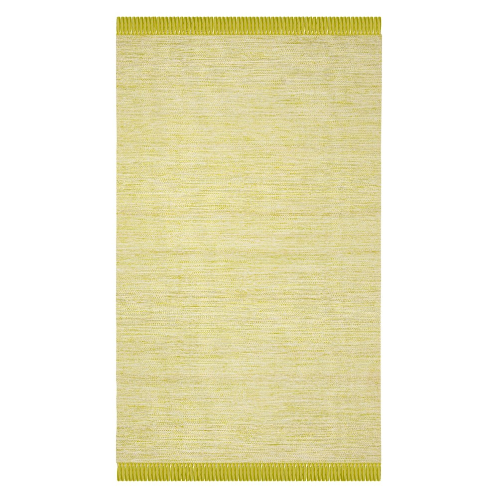 5'X8' Solid Woven Area Rug Olive/Green (Green/Green) - Safavieh