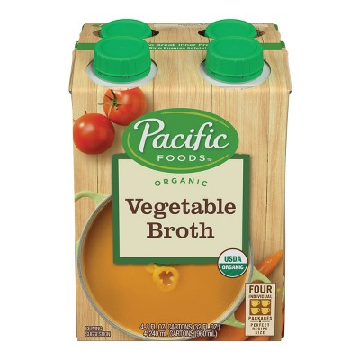 Pacific Foods Organic Vegetable Broth 4ct - 32oz