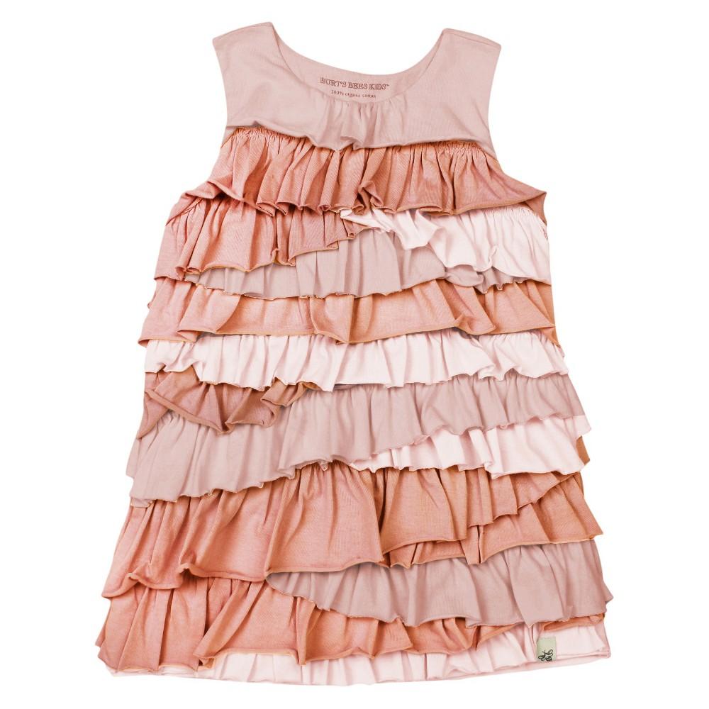 Burt's Bees Baby Toddler Girls' Ruffle Tier Dress - Pink 5T