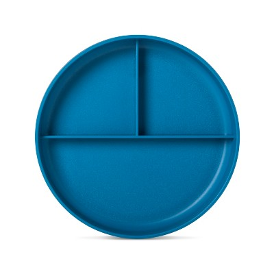 Plastic Divided Kids Plate 7.4  Turquoise - Pillowfort™