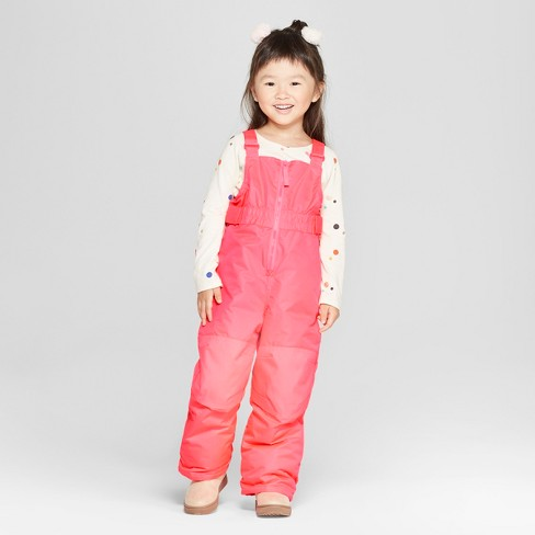 Toddler Girls' Snow Pants - Cat & Jack™ Pink - image 1 of 3