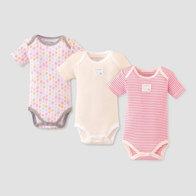 Burt's Bees Baby® Baby Girls' 3pk Graceful Swan Bodysuit Set - White 0-3M