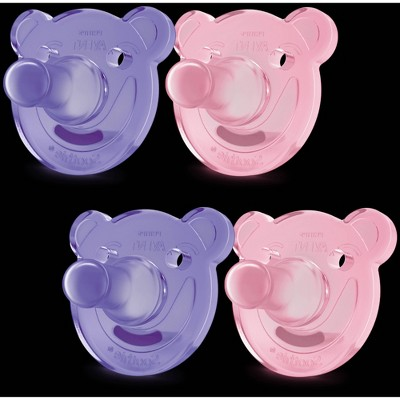 Philips Avent Soothie Shape Pacifier - Pink - 4pk