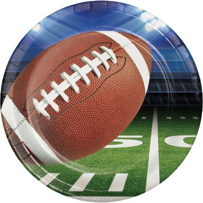 8ct Football Party Paper Plates