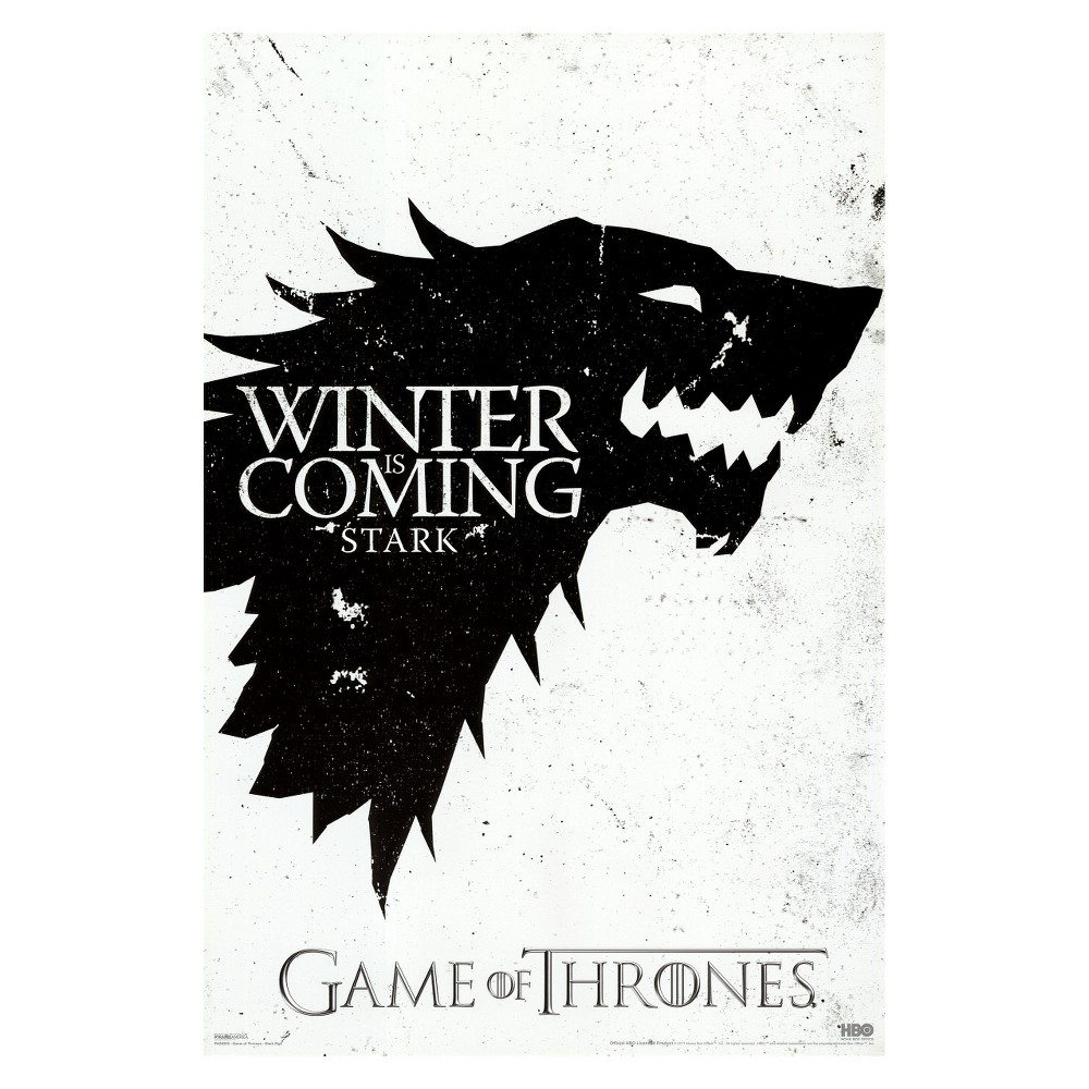 Art.com - Game of Thrones - Winter is Coming - House Stark Framed Poster, Multi-Colored