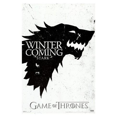 Art.com - Game of Thrones - Winter is Coming - House Stark Framed ...