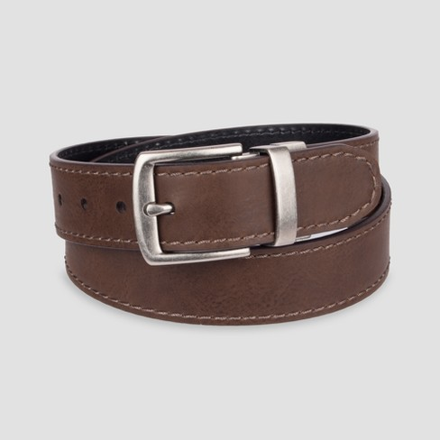 DENIZEN® from Levi's® Men's 38mm Cut Edge Reversible Double Needle Perf Belt - Tan - image 1 of 1