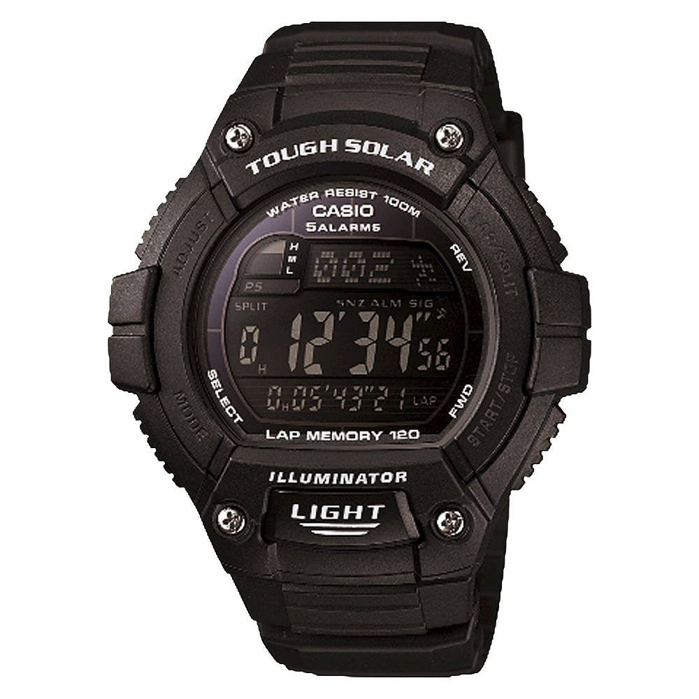 Casio Solar Multiple Function 120-Lap Runner Watch - Black (WS220-1BVCF)
