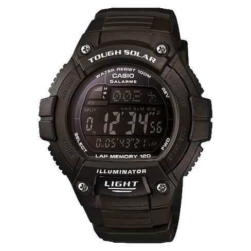 Casio Solar Multiple Function 120-Lap Runner Watch - Black (WS220-1BVCF) - image 1 of 1