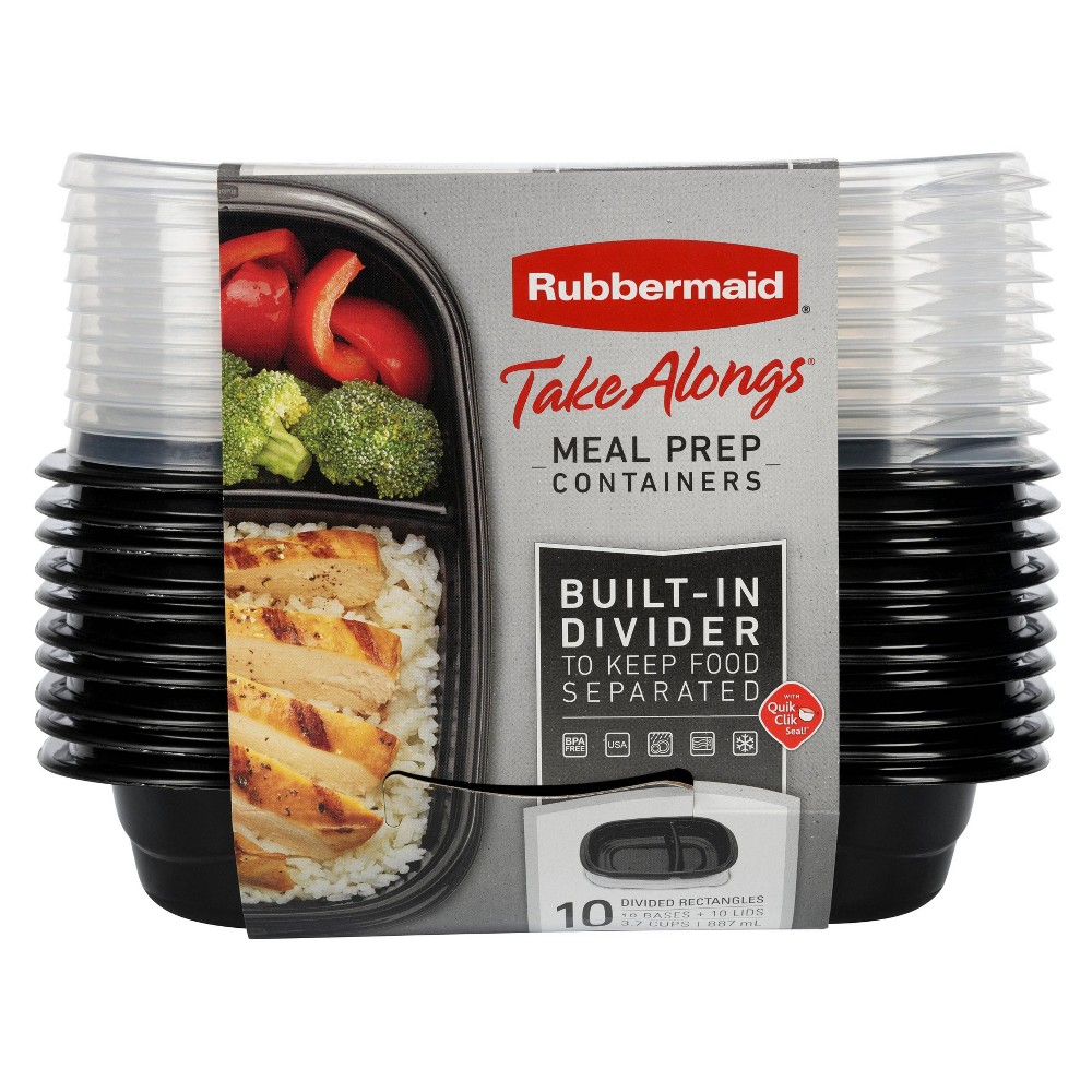 Image of Rubbermaid 20pc TakeAlongs Meal Prep Containers Set
