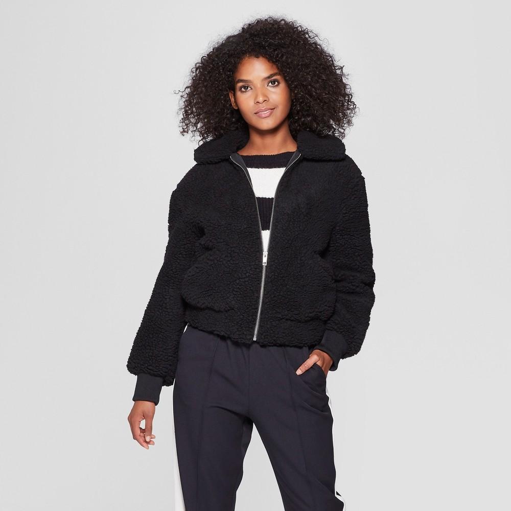 Women's Teddy Jacket - Who What Wear Black M