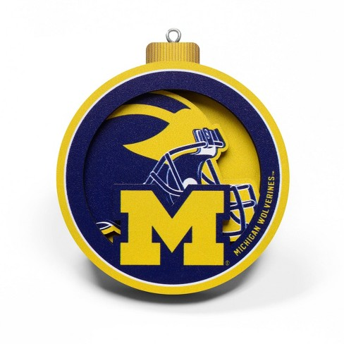 NCAA Michigan Wolverines 3D Logo Ornament - image 1 of 4