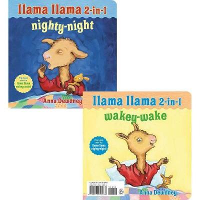 Llama Llama 2-In-1: Wakey-Wake/Nighty-Night - by Anna Dewdney (Board Book)