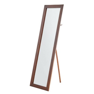 "62"" Cheval Wood Standing Mirror Espresso - Ore International"