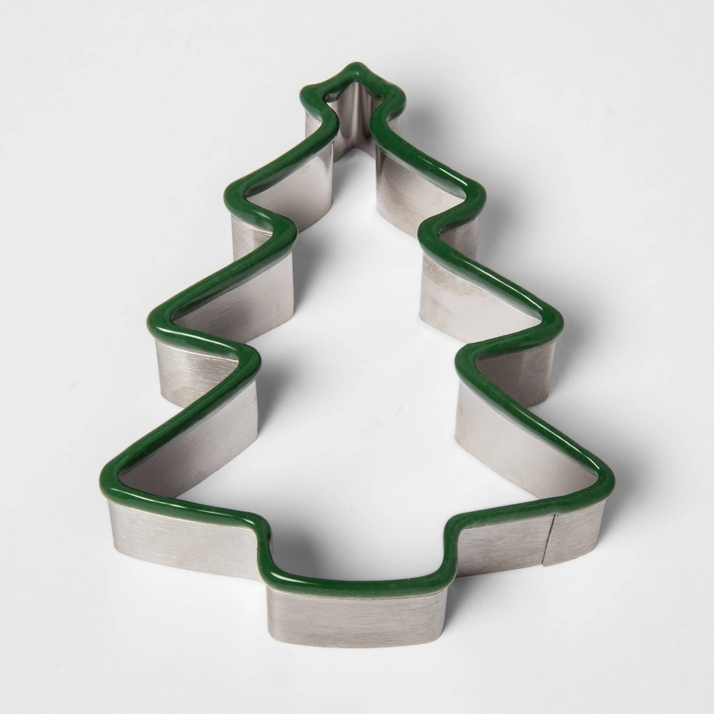 Image of Stainless Steel Holiday Tree Cookie Cutter - Threshold
