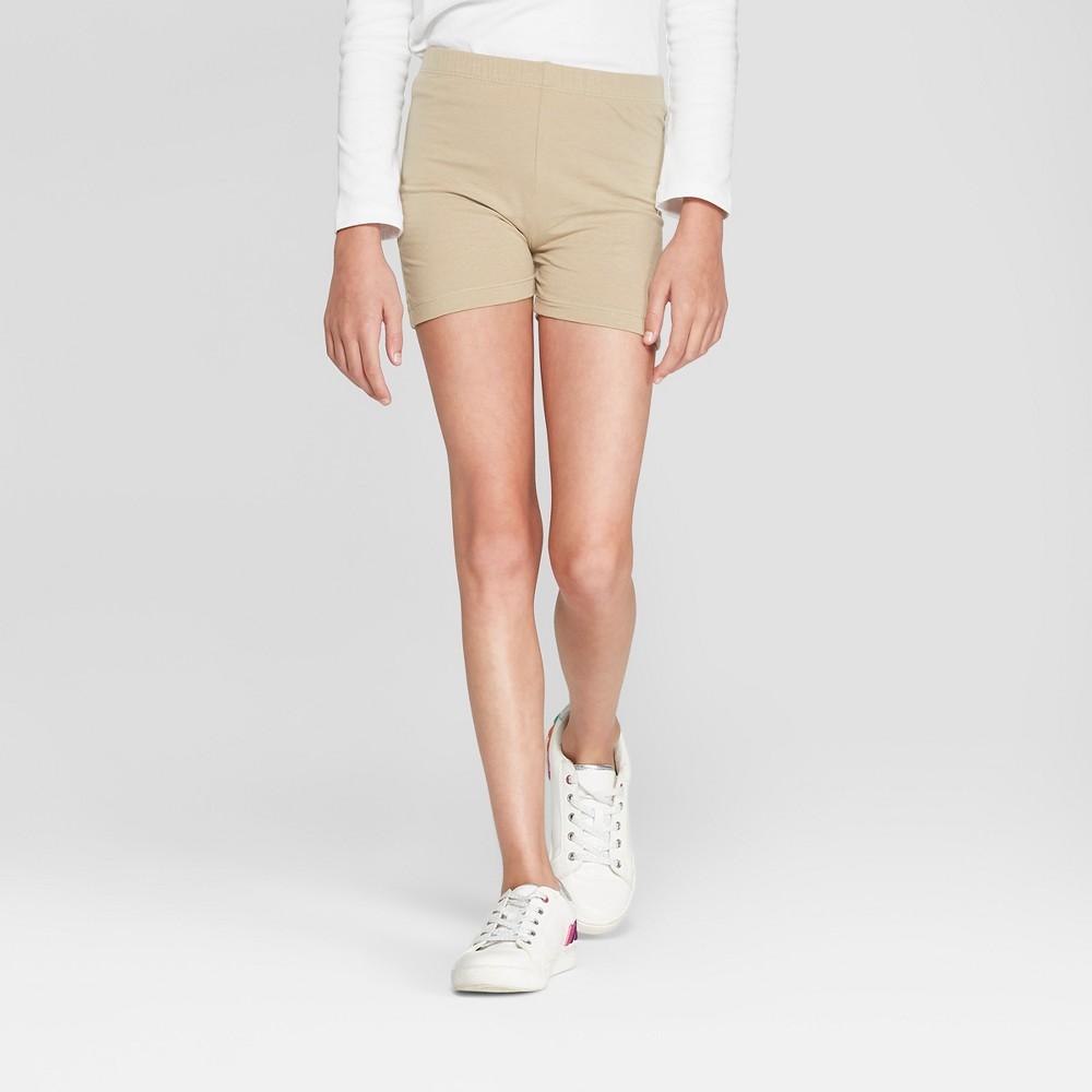 French Toast Girls' Uniform Lounge Shorts - Khaki (Green) XL