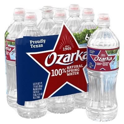 Ozarka Brand 100% Natural Spring Water - 6pk/23.7 fl oz Sport Cap Bottles
