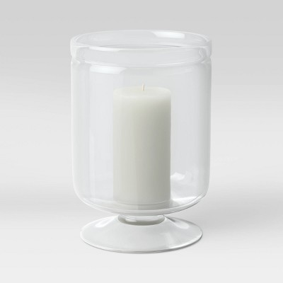 "11"" x 7.8"" Glass Hurricane Candle Holder - Threshold™"