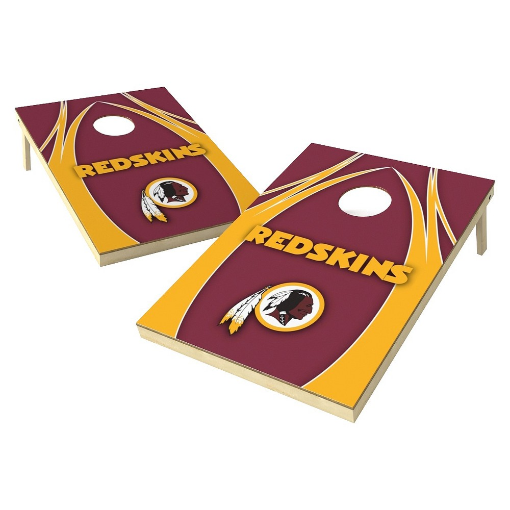 Washington Redskins Wild Sports Platinum Shield Cornhole Bag Toss Set - 2x3 ft.