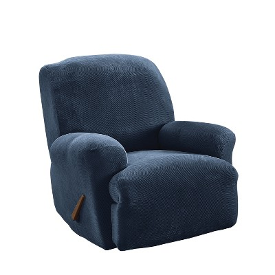 Stretch Pique Recliner Navy - Sure Fit