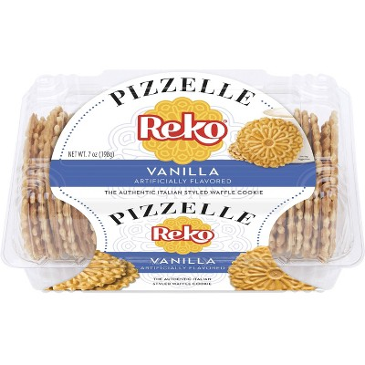 Reko Pizzelle Italian Waffle Cookies Vanilla - 4ct/7oz